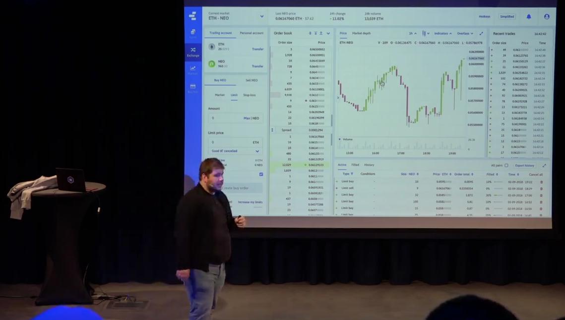 Интерфейс биржи Nash